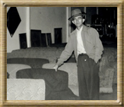 John M. Sowell Inside his furniture store, Sowell's Home Supply.  Still at the same location on Arch St. since 1945!